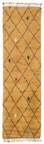 Alta - ゴールド 絨毯 80X300 モダン 手織り 廊下 カーペット 薄茶色/オレンジ (ウール, インド)
