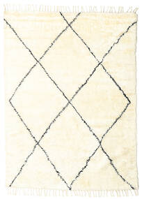 Barchi/Moroccan Berber - Indisch Teppich  160X230 Echter Moderner Handgeknüpfter Beige (Wolle, Indien)
