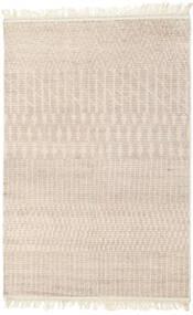 Berber Ribbed Teppe 160X230 Ekte Moderne Håndknyttet Lys Grå/Beige/Hvit/Creme (Ull, India)