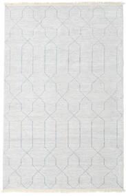 Bamboo Jedwab Handloom Dywan 160X230 Nowoczesny Tkany Ręcznie Beżowy/Jasnoszary/Biały/Creme ( Indie)