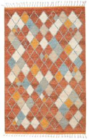 Berber Ribbed Χαλι 160X230 Σύγχρονα Χειροποιητο Kόκκινα/Ανοιχτό Γκρι (Μαλλί, Ινδικά)