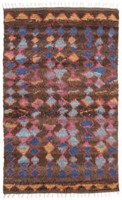 Barchi/Moroccan Berber - Indo Rug 160X230 Authentic  Modern Handknotted Dark Red/Dark Brown (Wool, India)