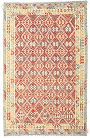 Kelim Afghan Old Style Teppe 235X364 Ekte Orientalsk Håndvevd Mørk Beige/Orange (Ull, Afghanistan)