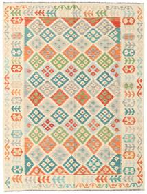 Kilim Afgan Old Style Dywan 180X238 Orientalny Tkany Ręcznie Beżowy/Jasnoróżowy (Wełna, Afganistan)