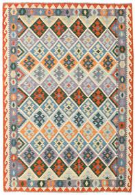 キリム アフガン オールド スタイル 絨毯 172X249 オリエンタル 手織り 薄い灰色/暗めのベージュ色の (ウール, アフガニスタン)