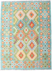 キリム アフガン オールド スタイル 絨毯 148X199 オリエンタル 手織り ターコイズブルー/ベージュ (ウール, アフガニスタン)