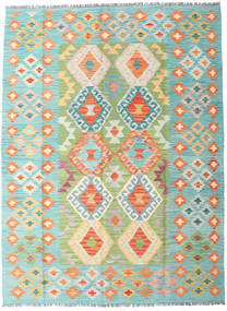 Kilim Afghan Old Style Rug 148X199 Authentic Oriental Handwoven Turquoise Blue/Beige (Wool, Afghanistan)