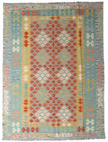 Kelim Afghan Old Style Tæppe 149X198 Ægte Orientalsk Håndvævet Lysegrå/Mørk Beige (Uld, Afghanistan)