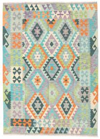 キリム アフガン オールド スタイル 絨毯 123X170 オリエンタル 手織り ベージュ/薄い灰色 (ウール, アフガニスタン)