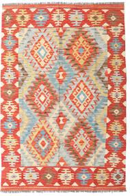Kilim Afghan Old Style Rug 126X185 Authentic Oriental Handwoven Rust Red/Dark Beige (Wool, Afghanistan)