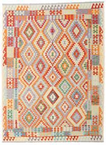 Kelim Afghan Old Style Teppich 180X243 Echter Orientalischer Handgewebter Beige/Orange (Wolle, Afghanistan)