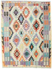 Kelim Afghan Old Style Teppe 152X198 Ekte Orientalsk Håndvevd Beige/Lys Grå (Ull, Afghanistan)