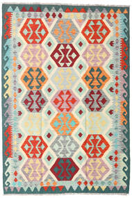 Ćilim Afghan Old Style Sag 122X181 Autentični  Orijentalni Ručno Tkani Bež/Plava (Vuna, Afganistan)