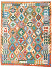 Ćilim Afghan Old Style Sag 151X191 Autentični  Orijentalni Ručno Tkani Narančasta/Bež (Vuna, Afganistan)