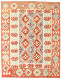 Kilim Afghan Old Style Tapis 153X197 D'orient Tissé À La Main Beige/Orange (Laine, Afghanistan)
