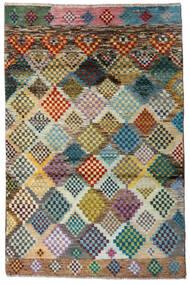 Moroccan Berber - Afghanistan Teppe 118X179 Ekte Moderne Håndknyttet Lys Grå/Mørk Grå (Ull, Afghanistan)