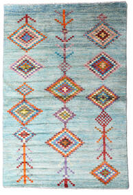 Moroccan Berber - Afghanistan 絨毯 114X171 モダン 手織り 水色/ターコイズブルー (ウール, アフガニスタン)
