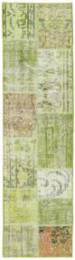 パッチワーク - Turkiet 絨毯 56X201 モダン 手織り 廊下 カーペット ライトグリーン (ウール, トルコ)