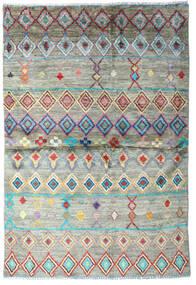 Moroccan Berber - Afghanistan 絨毯 118X173 モダン 手織り 薄い灰色/濃いグレー (ウール, アフガニスタン)