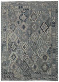 キリム アフガン オールド スタイル 絨毯 209X290 オリエンタル 手織り 薄い灰色/緑色 (ウール, アフガニスタン)