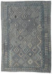 キリム アフガン オールド スタイル 絨毯 208X290 オリエンタル 手織り 薄い灰色/濃いグレー/青 (ウール, アフガニスタン)