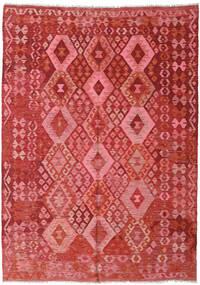 キリム アフガン オールド スタイル 絨毯 177X248 オリエンタル 手織り 錆色/深紅色の (ウール, アフガニスタン)