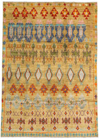 Moroccan Berber - Afghanistan 絨毯 192X280 モダン 手織り 暗めのベージュ色の/薄茶色 (ウール, アフガニスタン)
