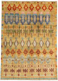 Moroccan Berber - Afghanistan Tapis 192X280 Moderne Fait Main Beige Foncé/Marron Clair (Laine, Afghanistan)