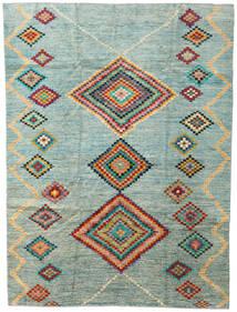 Moroccan Berber - Afghanistan Dywan 203X274 Nowoczesny Tkany Ręcznie Jasnoszary/Turkusowy Niebieski (Wełna, Afganistan)
