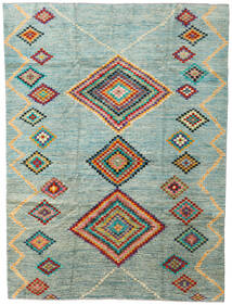 Moroccan Berber - Afghanistan 絨毯 203X274 モダン 手織り 薄い灰色/ターコイズブルー (ウール, アフガニスタン)