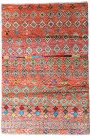 Moroccan Berber - Afghanistan Rug 129X180 Authentic  Modern Handknotted Rust Red/Dark Red (Wool, Afghanistan)