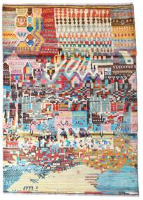 Moroccan Berber - Afghanistan 絨毯 122X182 モダン 手織り 濃いグレー/ベージュ (ウール, アフガニスタン)