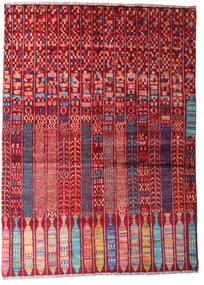 Moroccan Berber - Afghanistan 絨毯 144X201 モダン 手織り 深紅色の/ライトピンク (ウール, アフガニスタン)