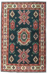 Kazak Teppe 98X152 Ekte Orientalsk Håndknyttet Mørk Turkis/Mørk Rød (Ull, Pakistan)