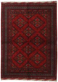 Afghan Rug 176X240 Authentic  Oriental Handknotted Dark Red/Crimson Red (Wool, Afghanistan)