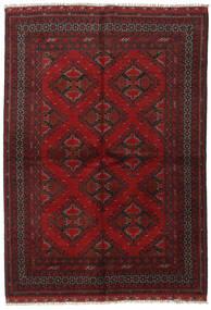 Afghan Rug 164X232 Authentic  Oriental Handknotted Dark Red/Dark Brown (Wool, Afghanistan)