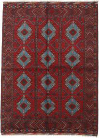 アフガン 絨毯 175X234 オリエンタル 手織り 深紅色の/黒 (ウール, アフガニスタン)