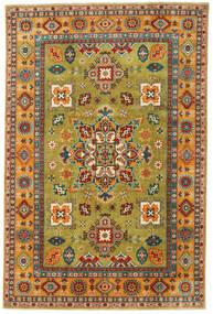 Kazak Dywan 199X303 Orientalny Tkany Ręcznie Zielony/Oliwkowy/Jasnobrązowy (Wełna, Pakistan)