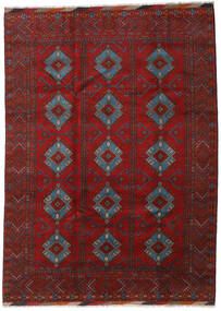 Afghan Rug 213X293 Authentic  Oriental Handknotted Dark Red/Rust Red/Black (Wool, Afghanistan)
