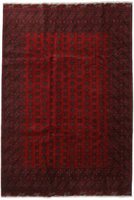 Afghan Rug 201X290 Authentic  Oriental Handknotted Dark Red/Crimson Red (Wool, Afghanistan)