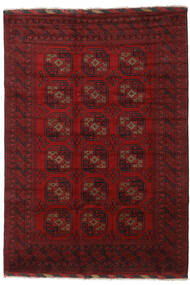Afghan Rug 202X290 Authentic  Oriental Handknotted Dark Red/Crimson Red (Wool, Afghanistan)