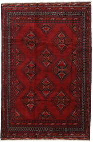 Afghan Rug 194X290 Authentic  Oriental Handknotted Dark Red/Crimson Red (Wool, Afghanistan)