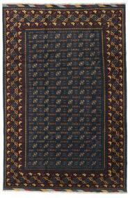 Afgan Dywan 199X297 Orientalny Tkany Ręcznie Czarny/Ciemnoszary (Wełna, Afganistan)