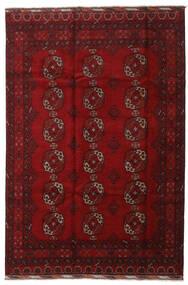 アフガン 絨毯 196X291 オリエンタル 手織り 深紅色の/赤 (ウール, アフガニスタン)