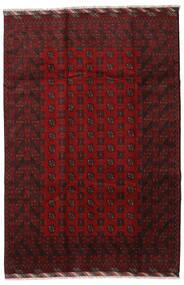アフガン 絨毯 201X298 オリエンタル 手織り 深紅色の (ウール, アフガニスタン)