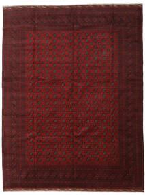 Afghan Teppe 304X390 Ekte Orientalsk Håndknyttet Mørk Rød Stort (Ull, Afghanistan)