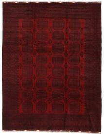 Afghan Teppe 254X329 Ekte Orientalsk Håndknyttet Mørk Brun/Mørk Rød Stort (Ull, Afghanistan)