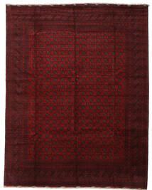 アフガン 絨毯 300X384 オリエンタル 手織り 深紅色の/濃い茶色 大きな (ウール, アフガニスタン)