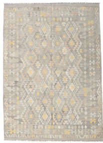 Kilim Afghan Old Style Rug 175X243 Authentic  Oriental Handwoven Light Grey (Wool, Afghanistan)