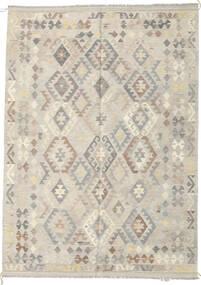 Kilim Afghan Old Style Rug 175X243 Authentic  Oriental Handwoven Light Grey/Dark Beige (Wool, Afghanistan)